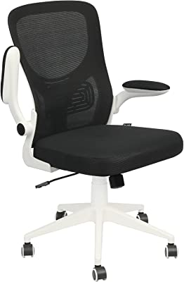 REYADE オフィスチェア デスクチェア パソコンチェア 事務用椅子 跳ね上げ式アームレスト 広い座面 ロッキング機能 高さ調節 メッシュ ホワイト