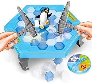 クラッシュアイスゲーム ペンギンを救うテーブルゲームボードゲーム パズルゲーム 多人インタラクティブ立体ゲーム親子ゲーム (青い, ワンサイズ)