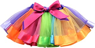 OULII Falda arco iris tutu vestido de danza ballet para bebes Niños 1 a 3 Años