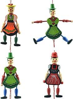 Toyvian Movable Joint Puppet Ornament Wooden Crafts Desktop Adornment Sketch Model