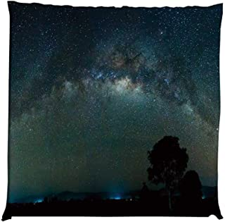 YOLIYANA Sky Durable Square Chair Pad,Milky Way Photography Universe from Sabah Borneo East Malaysia South Eastern Asia Decorative for Bedroom Living Room,One Size