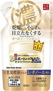 Sana Nameraka Honpo Soy Milk Isoflavone Wrinkle Gel Cream - 80g - Refill (Green Tea Set)