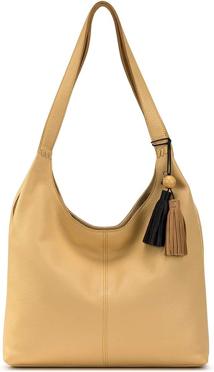 The Sak Womens Huntley Leather Hobo Handbag