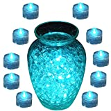 USUT Submersible LED Decor Tea Light Wedding or Events (Pack of 10) - Teal