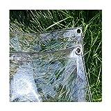 KKCF Lona De Protección Transparente A Prueba De Polvo Resistente Al Frio Antiedad Cloruro De Polivinilo Al Aire Libre, 13 Tallas (Color : Claro, Size : 2.4x5m)