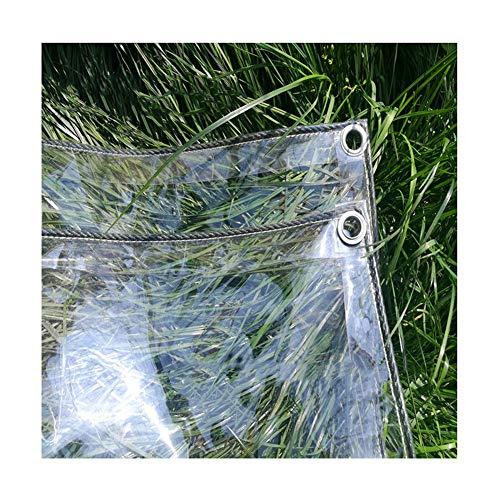KKCF Bâche De Protection Transparent Résistant Au Froid Coupe-Vent Anti-âge Chlorure De Polyvinyle De Plein Air, 13 Tailles (Couleur : Clair, Taille : 2x6m)