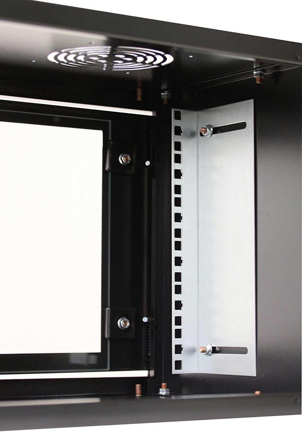 kab24/® Netzwerkschrank Serverschrank Wandheh/äuse Netzwerk Wandschrank Wandverteiler SOHO Schrank grau 19 Zoll 16 HE H:87,8 x B:60 x T:60cm