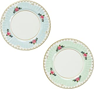 Talking Tables Truly Scrumptious Large Pastel Dinner Paper Plates for a Tea Party, Wedding or Birthday, Blue/Green