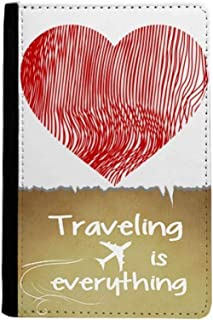 Finger Print Valentine's Day Heart Traveling quato Passport Holder Travel Wallet Cover Case Card Purse