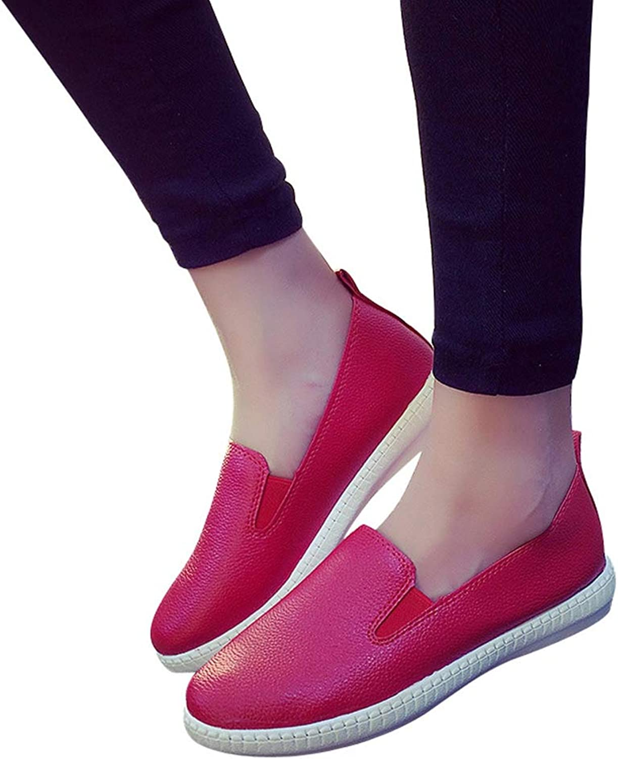 T-JULY Casual Flat shoes Woman Spring Solid Loafers Slip On Flats Fashion Round Toe Women shoes 3 colors Size 35-40