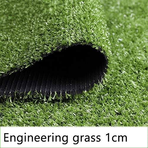 Ingénierie Tapis Type Gazon Synthétique Haute Qualité en Rouleau Pelouse artificielle avec Picots de Drainage Balcon, Terrasse, Jardin Épaisseur Vert 1cm 1.5cm (Color : 1cm, Size : 2mx0.5m)