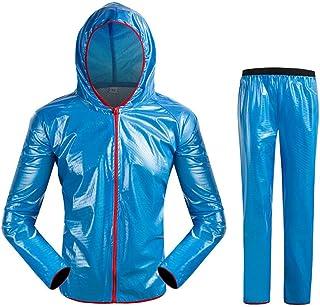 Snow Rainwear Men's Lightweight Waterproof Reflective Raincoat Set Rainwear for Cycling Hiking Outdoor Multifunction Outdo...