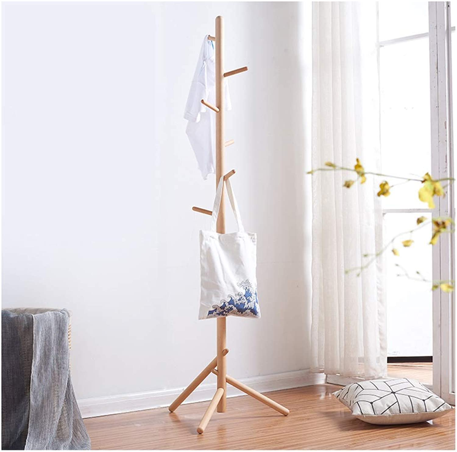 Standing Coat Racks Coat Stand Clothes Rack,Large Hat and Coat Stand with Hooks and shoes Rack, Multifunctional Hall Tree Hall Trees Bedroom Hallway -0223