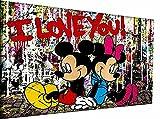 Magic Canvas Art - Imágenes de Mickey Mouse Pop Art Lienzo de 1 pieza de alta calidad impresión artística moderna de pared de diseño de pared de diseño de pared de 40 x 30 cm