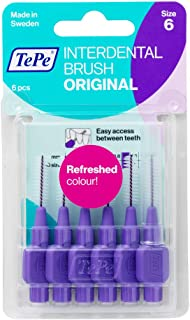 TePe Interdental Brush Original (ISO size 6), Purple, 6 Count, 1.1mm