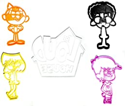 THE LOUD HOUSE LUNA LORI CLYDE LINCOLN LOGO ANIMATED SITCOM TV SHOW SET OF 5 SPECIAL OCCASION COOKIE CUTTER BAKING TOOL 3D PRINTED MADE IN USA PR1172