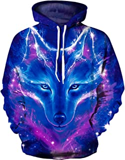 f4043288a OYABEAUTY Unisex Realistic 3D Print Galaxy Pullover Hoodie Hooded Sweatshirt