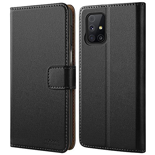 HOOMIL Handyhülle für Samsung Galaxy M31S Hülle, Premium PU Leder Flip Hülle Schutzhülle für Samsung Galaxy M31S Tasche (Schwarz)