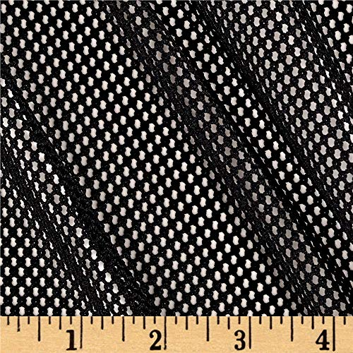Telio 0395289 Mod Stretch Mesh Black Fabric by the Yard