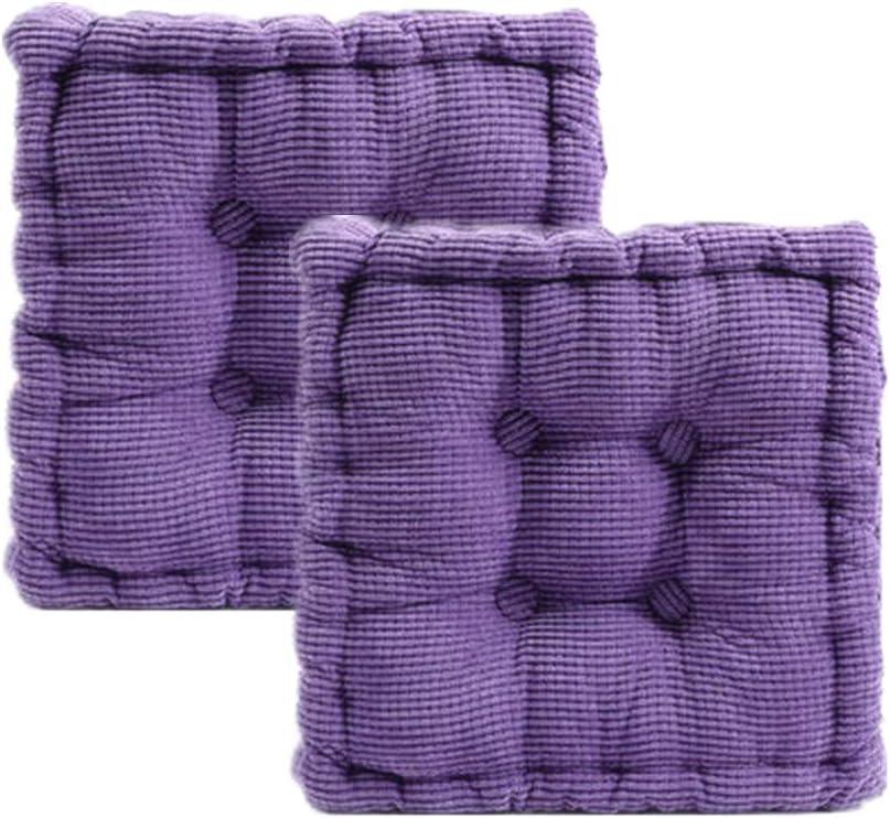CHEOALFA 20x20inch(Set of 2) Square Floor Pillow Chair Pad Sofa Cushion Tatami Floor Cushion Purple Cushion for Living Room Bed Balcony Outdoor Children's Play Area Car etc. (Purple): Kitchen & Dining