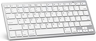 OMOTON Ultra-Slim Bluetooth Wireless Keyboard, White
