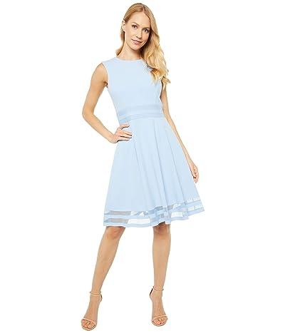 Calvin Klein A-Line Dress with Illusion Detail At Waist and Hem (Serene) Women