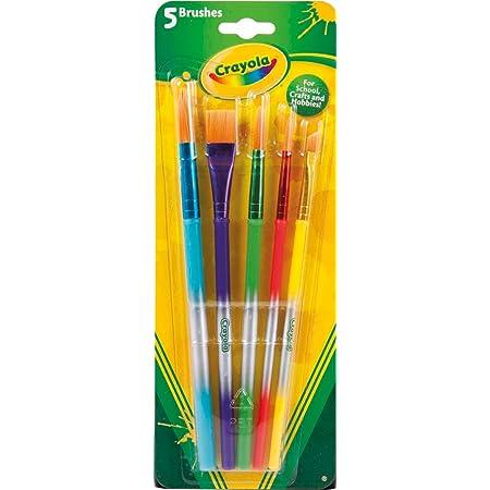 Crayola - 5 Pennelli Taglie Varie, Setole Morbide, per ogni Progetto Creativo, per Scuola e Tempo libero, 3007