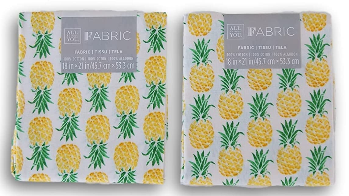 All Things You Fabric Fat Quarters Bundle - Pineapples