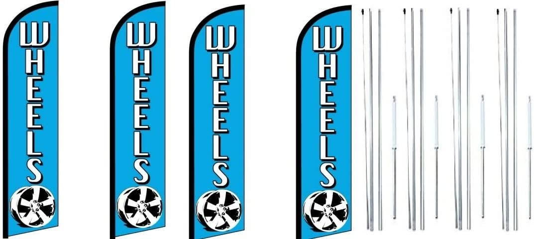 Selling sold out rankings Wheels Blue King Windless Feather Kit with Sign Complete Flag