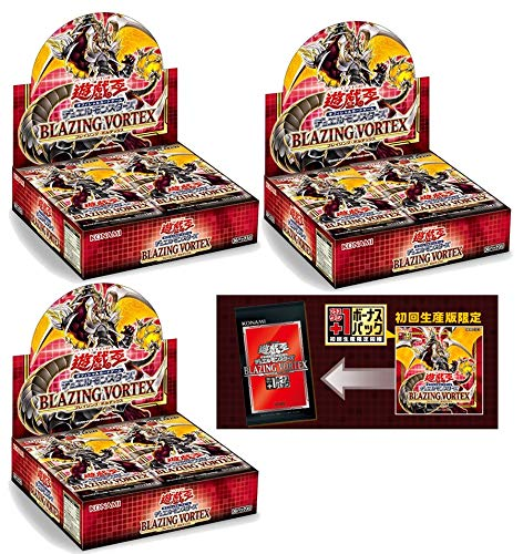 Yu-Gi-Oh! OCG Duel Monsters Trading Cards Blazing Vortex Booster Box Japanese Ver. (3 Box [ First Limited Edition ])