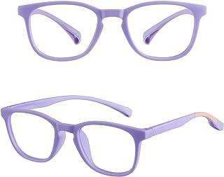 COOLOO Kids Blue Light Blocking Glasses,Computer Gaming TV Glasses for Boys Girls Age 3-15 Anti Glare & Eyestrain & Blu-ra...