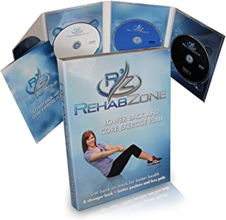 RehabZone Lower Back and Core Exercise Plan: Physician endorsed low back pain home exercise program.