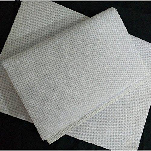 Cleana Arts Paquete de 8 Tejido de Punto de Cruz Aida Tela Aida Blanco Aida 14 Conde 45cm X 30cm, Blanco