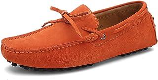 Homme Moccassins Suède Cuir Plats Slip-on Loafers Loisirs Chaussures de Conduite Flat Nœud Plates Conduite Grande Taille B...