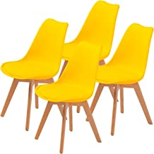 La Bella Replica Eames PU Padded Dining Chair - Yellow X4
