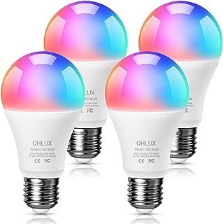 لامپ های LED هوشمند OHLUX پک 4 عددی - کنترل صوتی لامپ های هوشمند با اکودات های آمازون و دستیار صوتی گوگل