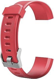 YOun - Correa de repuesto para reloj inteligente ID115Plus HR, rojo, 180.00*100.00*20.00