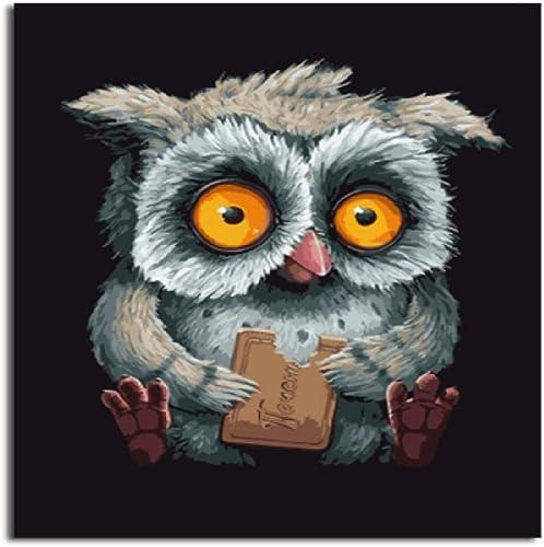 grandes ahorros Diy Pintura Digital Owl Owl Owl A,60X75Cm Pintura Digital Lienzo Arte De La Parojo Obra De Arte Pintura De Paisaje Sala De Estar En Casañoficina Decoración De Navidad Decoración Regaño De Los Niños Adultos  producto de calidad