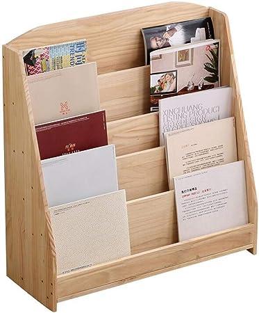 AYHa Librero de madera para niños de pie sencillos de la ...