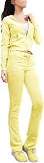 yellow velour tracksuit