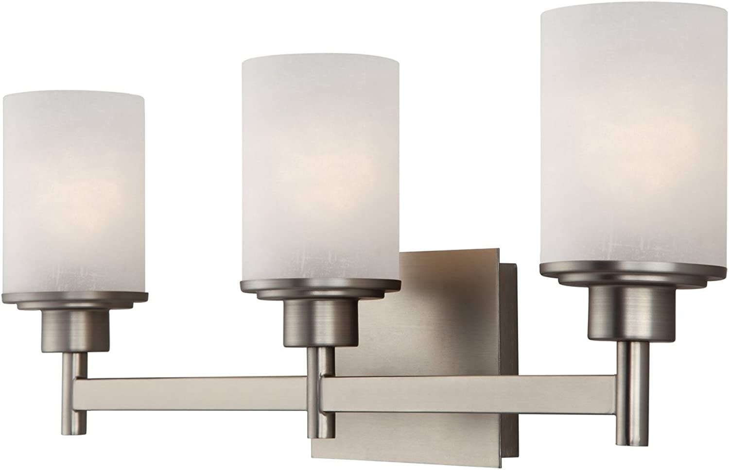 Canarm IVL408A03BN Lyndi 3-Light Bath Vanity, Brushed Nickle