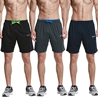 """CENFOR Men's 7"""" Athletic Workout Shorts with Pockets Drawstring Quick Dry Breathable Active Training Shorts"""