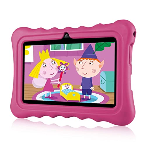 """Ainol Q88 7"""" Display Kids Tablet Android 7.1 RK3126C Quad Core 1GB+16GB WIFI Portable Kid-Proof Shock-Proof Silicone Case Kickstand Available With iWawa For Kids Education Entertainment(Pink)"""