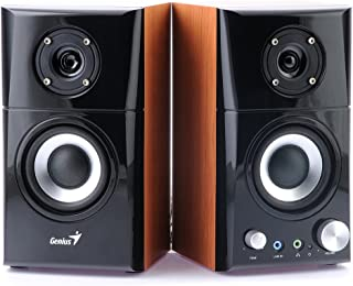 Genius SP-HF500A - Altavoces de Ordenador (14 W, MP3, 82 dB), Color Negro