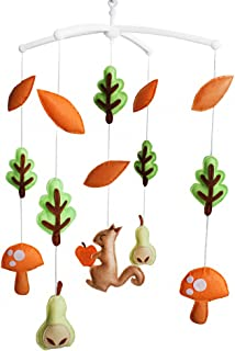 Thème de la forêt Jouet de décoration de lit bébé Mobile musical musical pour berceau fait main en