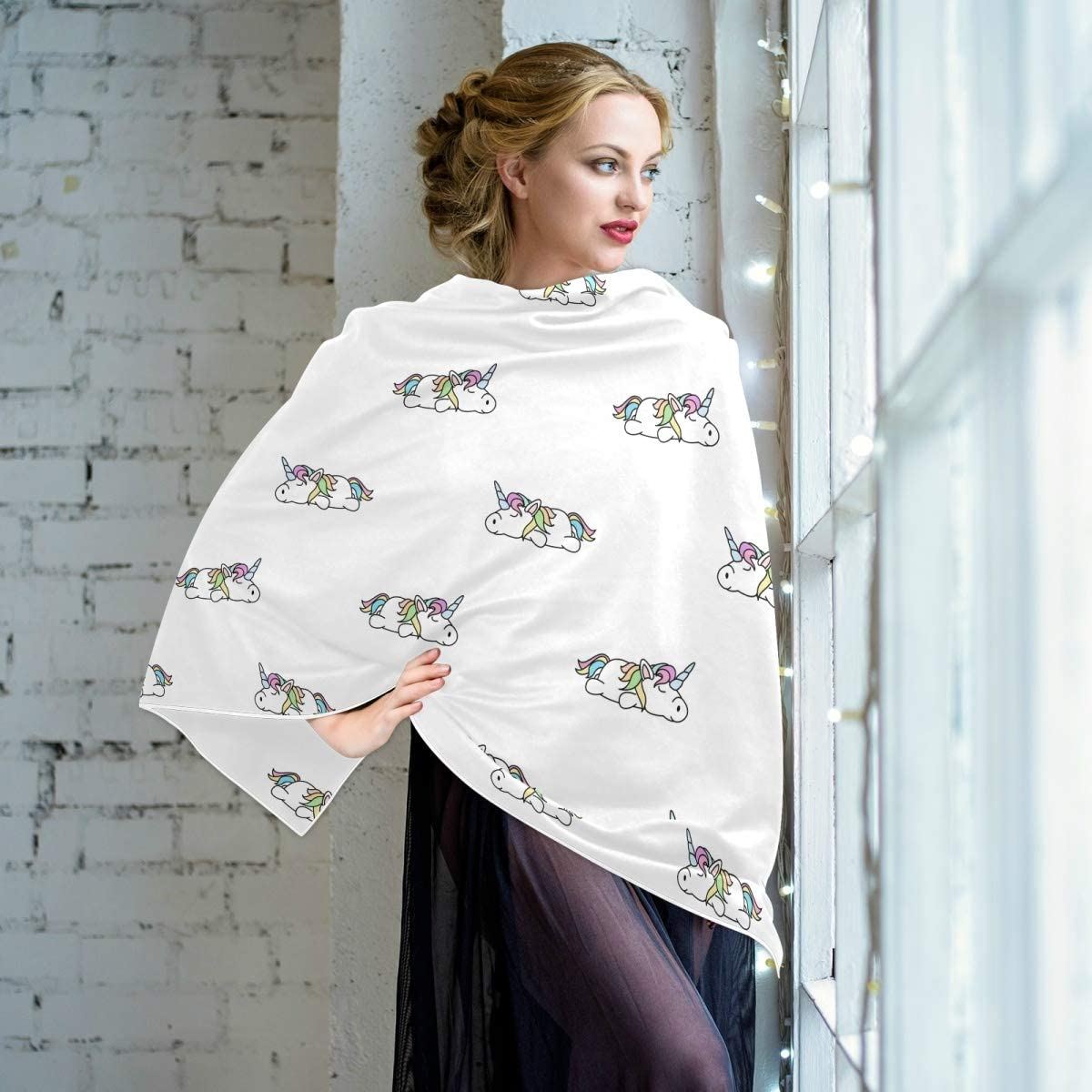 Scarf for Women and Men Unicorn Cute Blanket Shawl Scarf wraps Soft warm Winter Oversized Scarves Lightweight