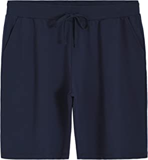 Weintee Women's Plus Size French Terry Bermuda Shorts with Pockets