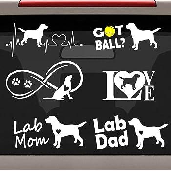 Bluegrass Decals L1054 Lab Dad Labrador Dog Breed Decal Sticker