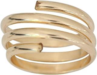 14k Gold Wire Wrap Yoga Coil Adjustable Toe Ring (not Plated)