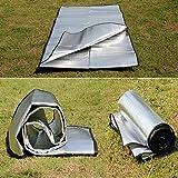 Bazaar Camping Wandern Feuchtigkeitsfeste Matten-Zelt-Picknick-Matten-Auflage Aluminium Film Double Sided -